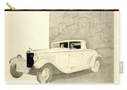 1931 - Unic 8 French Automobile Advertisement Carry-all Pouch