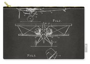 1931 Aircraft Emergency Floatation Patent Gray Carry-all Pouch by Nikki Marie Smith