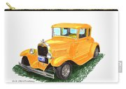 1931 Yellow Ford Coupe Carry-all Pouch by Jack Pumphrey