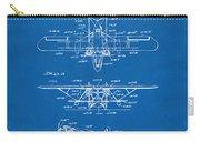 1932 Amphibian Aircraft Patent Blueprint Carry-all Pouch