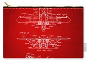 1932 Amphibian Aircraft Patent Red Carry-all Pouch