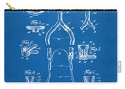 1932 Medical Stethoscope Patent Artwork - Blueprint Carry-all Pouch