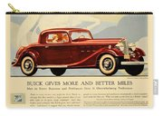 1933 - Buick Coupe Advertisement - Color Carry-all Pouch
