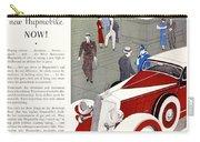 1933 - Hupmobile Sedan Automobile Advertisement - Color Carry-all Pouch