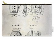 1933 Watch Case Patent Drawing  Carry-all Pouch