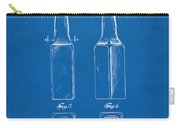 1934 Beer Bottle Patent Artwork - Blueprint Carry-all Pouch