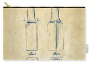 1934 Beer Bottle Patent Artwork - Vintage Carry-all Pouch