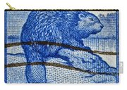 1954 Canada Beaver Stamp Carry-all Pouch