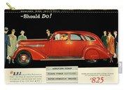1935 - Nash Aeroform Automobile Advertisement - Color Carry-all Pouch