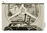 1935 - Panhard Panoramique French Automobile Advertisement Carry-all Pouch
