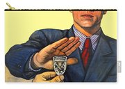 1935 - Soviet Union Anti Alcohol Propaganda Poster - Color Carry-all Pouch
