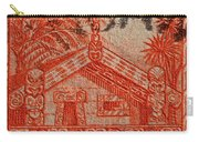1935 Carved Maori House New Zealand Stamp Carry-all Pouch