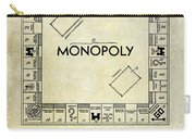 1935 Monopoly Patent Drawing Carry-all Pouch