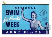 1935 Swim For Health Poster Carry-all Pouch