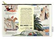 1936 - De Soto Airflow IIi Automobile Advertisement - Color Carry-all Pouch