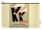 1936 - Kaolinase Drug Advertisement - Color Carry-all Pouch
