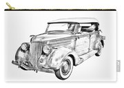 1936 Ford Phaeton Convertible Illustration  Carry-all Pouch