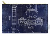 1937 Gibson Electric Guitar Patent Drawing Blue Carry-all Pouch