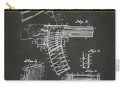 1937 Police Remington Model 8 Magazine Patent Artwork - Gray Carry-all Pouch