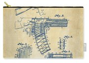 1937 Police Remington Model 8 Magazine Patent Artwork - Vintage Carry-all Pouch by Nikki Marie Smith