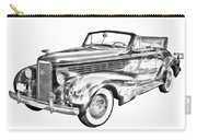 1938 Cadillac Lasalle Illustration Carry-all Pouch