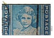 1938 Queen Elizabeth II Newfoundland Stamp Carry-all Pouch