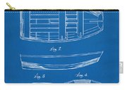 1938 Rowboat Patent Artwork - Blueprint Carry-all Pouch