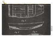 1938 Rowboat Patent Artwork - Gray Carry-all Pouch by Nikki Marie Smith