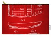 1938 Rowboat Patent Artwork - Red Carry-all Pouch