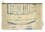1938 Rowboat Patent Artwork - Vintage Carry-all Pouch