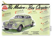 1939 Imperial Vintage Automobile Ad Carry-all Pouch