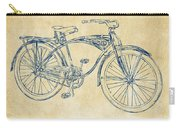1939 Schwinn Bicycle Patent Artwork Vintage Carry-all Pouch