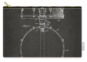 1939 Snare Drum Patent Gray Carry-all Pouch
