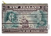 1940 Abel Tasman New Zealand Stamp Carry-all Pouch