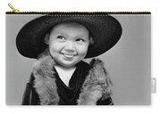 1940s Girl In Oversized Velvet Dress Carry-all Pouch
