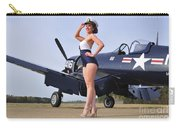 1940s Style Navy Pin-up Girl Posing Carry-all Pouch
