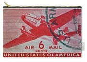 1941 - 1944 Six Cents Air Mail Stamp -  U. S. Army Cancelled Carry-all Pouch