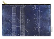 1941 Gibson Electric Guitar Patent Drawing Blue Carry-all Pouch