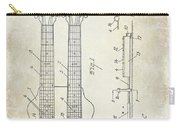 1941 Gibson Electric Guitar Patent Drawing Carry-all Pouch