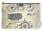1943 Indian Motorcycle Patent Drawing Carry-all Pouch