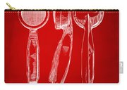 1944 Microphone Patent Red Carry-all Pouch