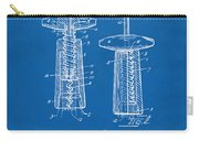 1944 Wine Corkscrew Patent Artwork - Blueprint Carry-all Pouch