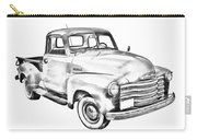 1947 Chevrolet Thriftmaster Pickup Illustration Carry-all Pouch