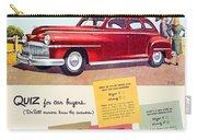 1947 - Desoto Automobile Advertisement - Color Carry-all Pouch