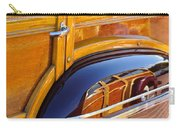 1947 Mercury Woody Reflecting Into 1947 Ford Woody Carry-all Pouch