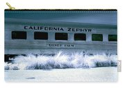 1948 California Zephyr Silver Palm Near Infrared Blue Carry-all Pouch
