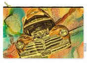 1948 Chev Gold Tie Dye Tilt Car Art Carry-all Pouch