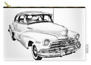 1948 Chevrolet Fleetmaster Antique Car Illustration Carry-all Pouch