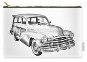 1948 Pontiac Silver Streak Woody Illustration Carry-all Pouch
