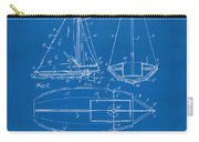 1948 Sailboat Patent Artwork - Blueprint Carry-all Pouch